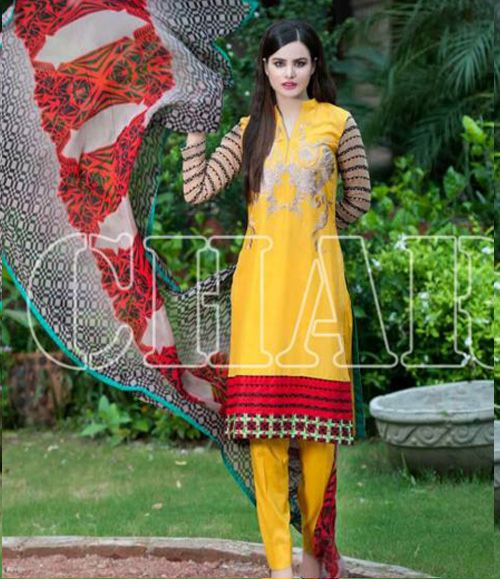 Charizma Range Vol-3 Luxury Lawn Embroidered Collection CR-610