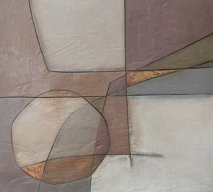 Diptych A by Jodi Jones mixed media, 58 x 52 cm