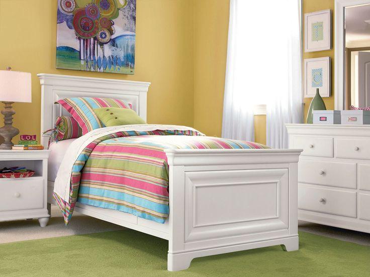 classics 40 panel bedroom set summer white smartstuff furniture furniture cart