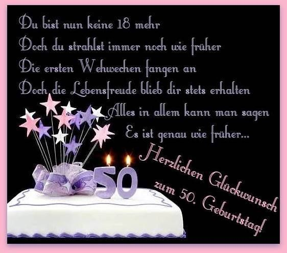 Geburtstagswünsche Zum 50 Freundin