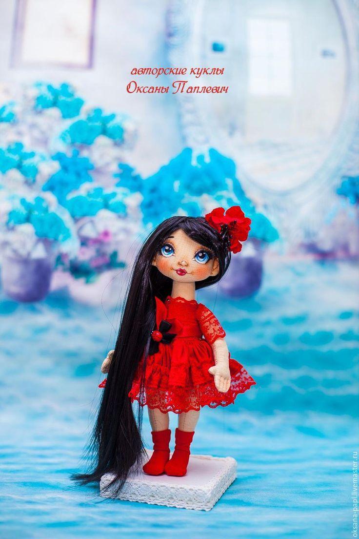 Купить Авторская текстильная кукла - текстильная кукла, интерьерная кукла, авторская кукла, авторская работа
