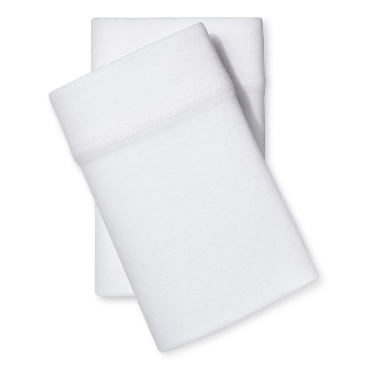 Jersey Pillowcase - (Standard) White - Room Essentials