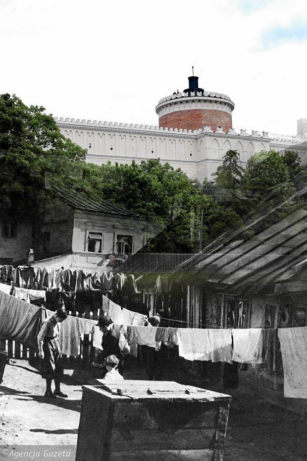 Then and now, Krawiecka Street in the shadow of the Castle - Lublin -Kolekcja z Ośrodka Bramy Grodzkiej-Teatru NN