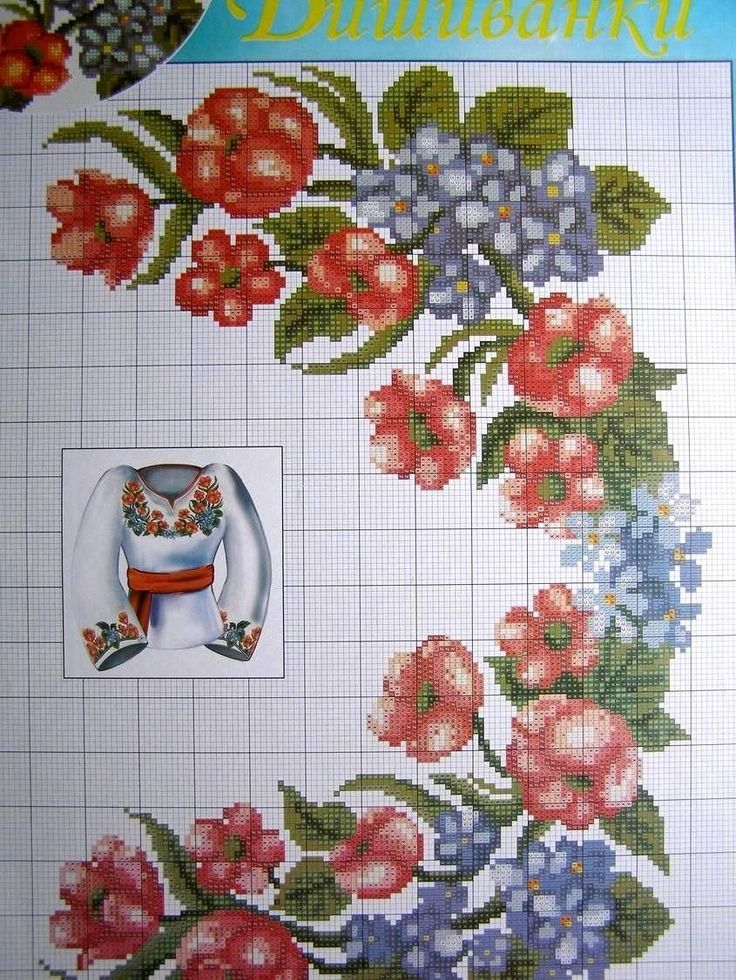 Cross Stitch Bordado patrón ucraniano Hombre Mujer Camisas vyshyvanka 52 variati