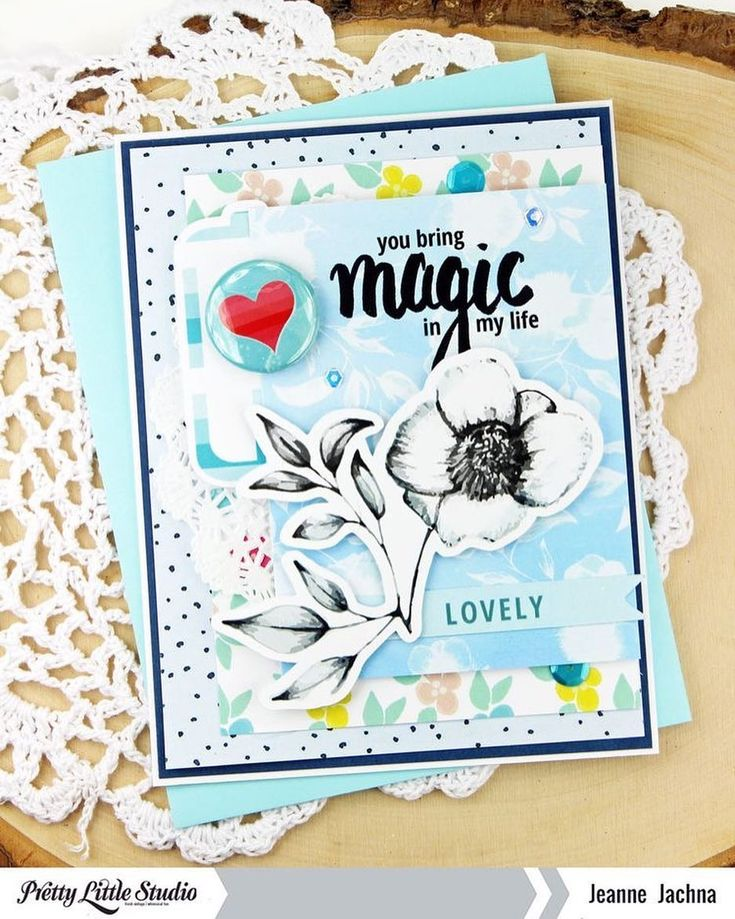 "90 Likes, 1 Comments - Pretty Little Studio (@prettylittlestudio) on Instagram: ""Wow! We love this card from designer @jeannejachna using the Blooming Hearts collection! . .…"""