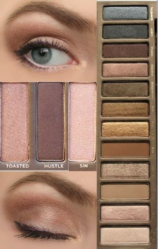 natural eye look with the naked palette!