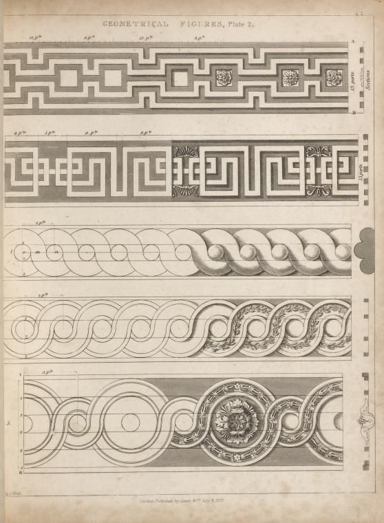 Geometrical Figures, plate 2. illustration by : George Smith, upholsterer to His Majesty c.1826