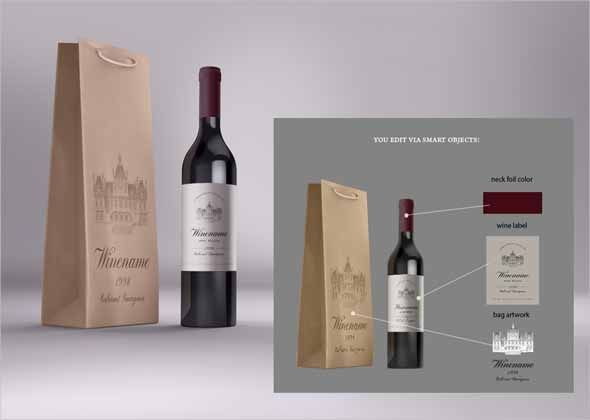 awesome-wine-branding-bundle There are 5 high res .psd files containing: stationery mock-ups with transparent wine glass and 'modern inclusions' like smartphone and tablet pc wooden wine box with fruits sommelier knife and cork paper bag and bottle wine bottle close-up scene with flying berries and wine splashes You can easily put your branding designs on these mock-ups by editing flat smart objects. All objects are separate layer groups with plenty of layers for more control. Advantages - High