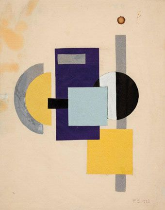 Franciska Clausen Konstruktivistisk studie, 1922 Statens Museum for Kunst