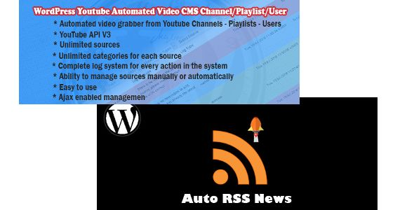 Bundle : Auto Rss News and Youtube CMS