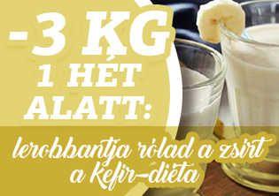 -3 kg 1 hét alatt: Lerobbantja rólad zsírt a kefír-diéta