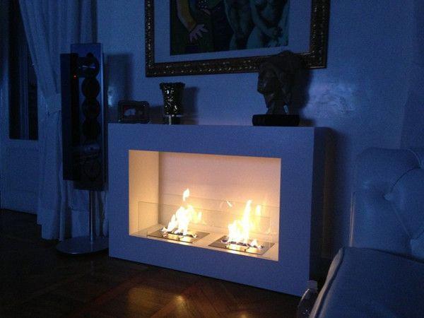 Bio-Blaze Qube Large Free Standing Ventless Ethanol Fireplace
