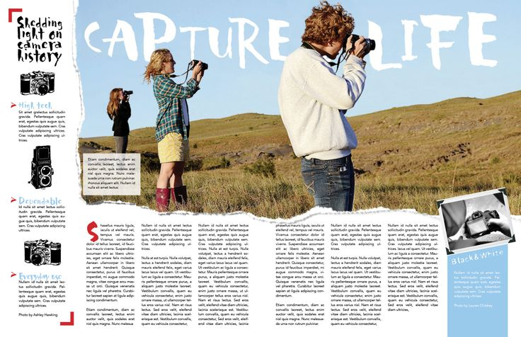 Shannon Francis: this would be great for a spread design idea for the photographers