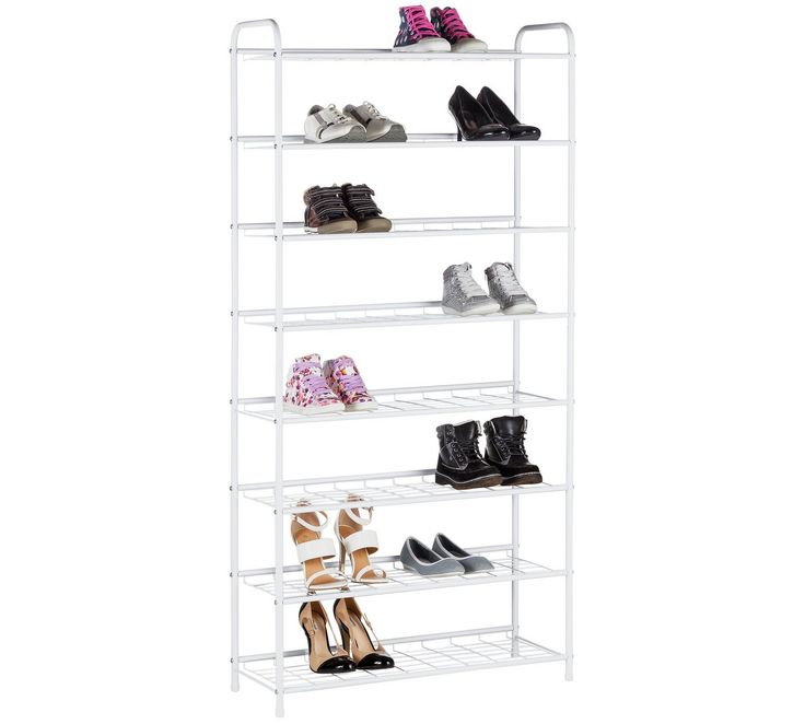 Buy HOME 8 Tier White Shoe Rack at Argos.co.uk - Your Online Shop for Hallway storage, Hallway furniture, Home and garden.