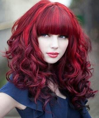 .bright red hair
