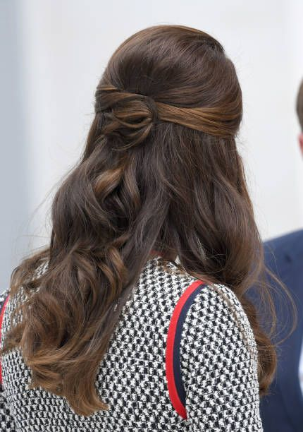 Catherine Duchess of Cambridge visits the Victoria and Albert Museum to officially open the Museum's new entrance courtyard and exhibition gallery on...