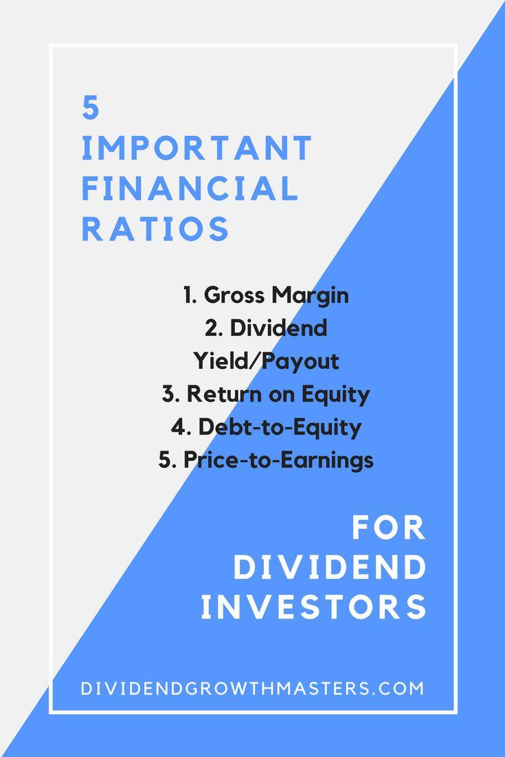 5 important financial ratios for dividend investors