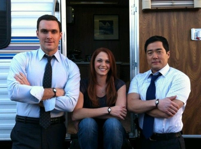 Owain Yeoman,Amanda Righetti and Tim Kang alias Wayne Rigsby,Grace Van-Pelt and Kimball Cho from The Mentalist ♥ :-)
