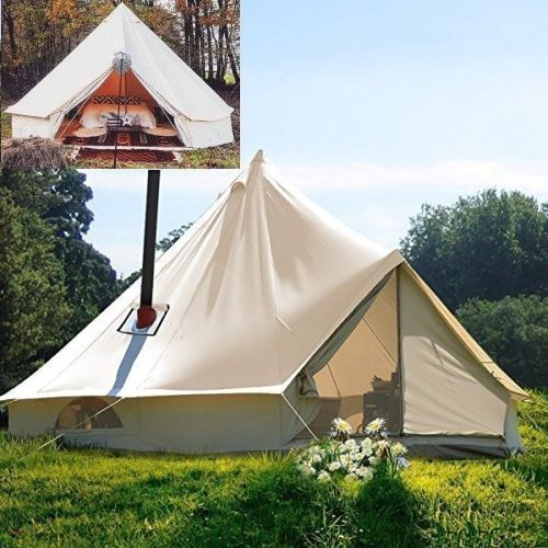 wholesale dealer 29cf6 18038 5M-Canvas-Outdoor-Bell-Tent-Glamping-Camping-Safari ...