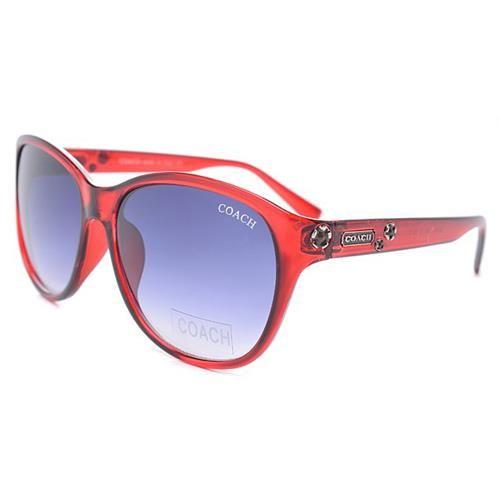 Discount Coach Samantha Red Sunglasses DKO Clearance