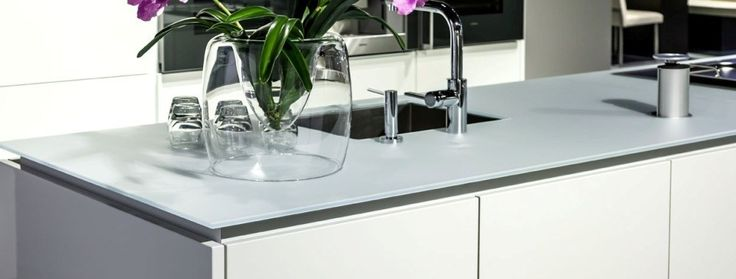 aanrechtblad glas witte keuken - Google zoeken