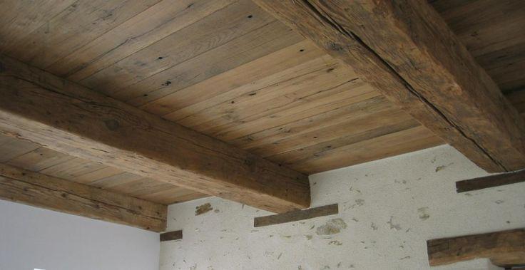 Plafond en poutres et plancher