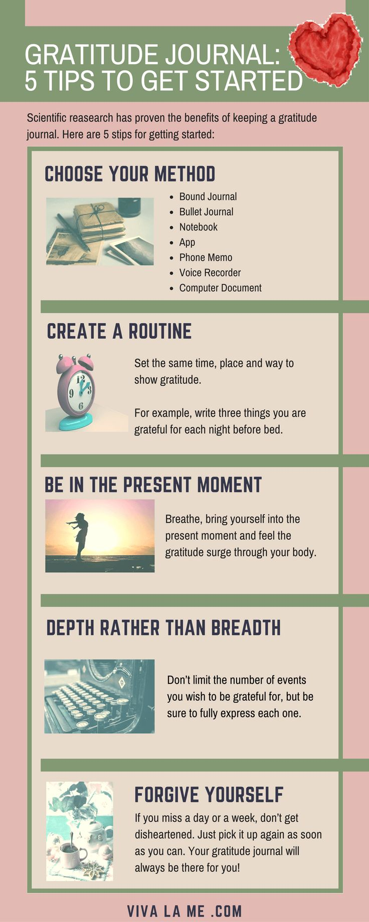 How To Start A Gratitude Journal — VivaLaMe