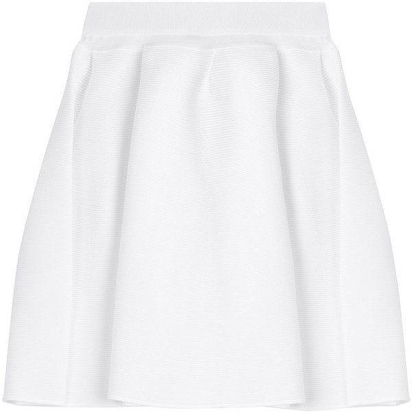 Malo Cotton Skirt ($326) ❤ liked on Polyvore featuring skirts, white, malo, white cotton skirt, white knee length skirt, cotton skirts and slim skirt