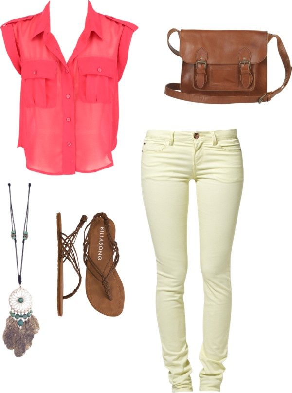 Coral and Leather