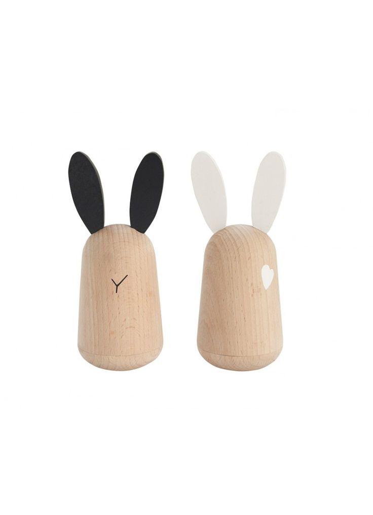 Kiko Wooden Toys - Usagi Bunny Rattles - set of 2