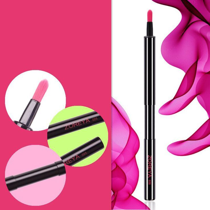 2017 Hot  Portable Automatic Retractable Lip Brush With Lid Eyeliner Brush Makeup brushes pincel maquiagem  Mar26