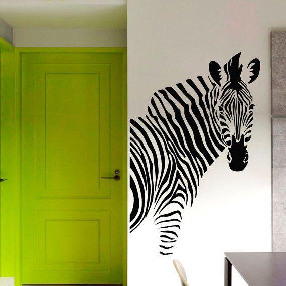 Zebra equina cavallo animali Natura parete Vinyl Decal Sticker Home Decor Arte murale Z459