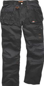 Scruffs Worker Plus Work Trousers Black 30`` W Black. Durable polycotton work trousers with reinforced knees and crotch for comfort and frequent use. http://www.comparestoreprices.co.uk/january-2017-9/scruffs-worker-plus-work-trousers-black-30-w.asp