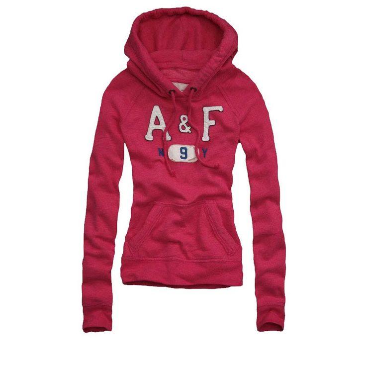blusas de moletom feminina A & F vermelha
