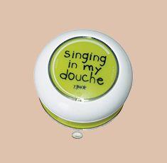 Per cantare finalmente sotto la doccia in piena libertà! Ogni doccia, una festa!  Casa | Paniate - Gadget Introvabili