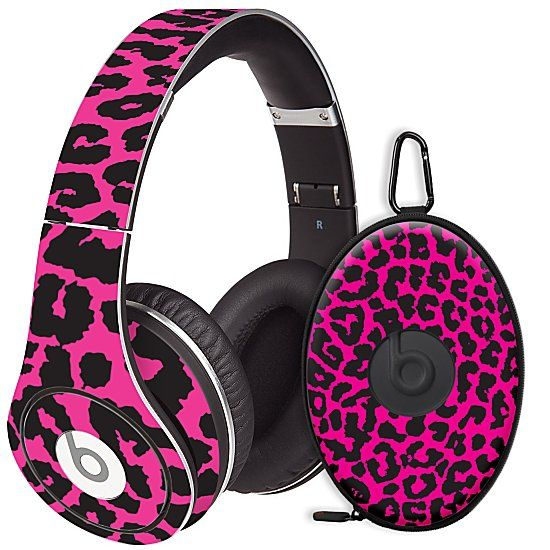Pink Leopard Skin for the Beats Studio Headphones & Case by skinzy.com on Wanelo