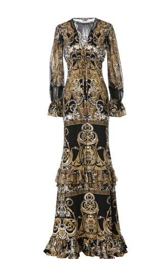 Женское бронзовое вечернее платье Roberto Cavalli, сезон FW 15/16, арт…