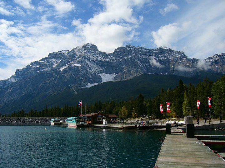 Boat ride in Banff, Alberta, Canada