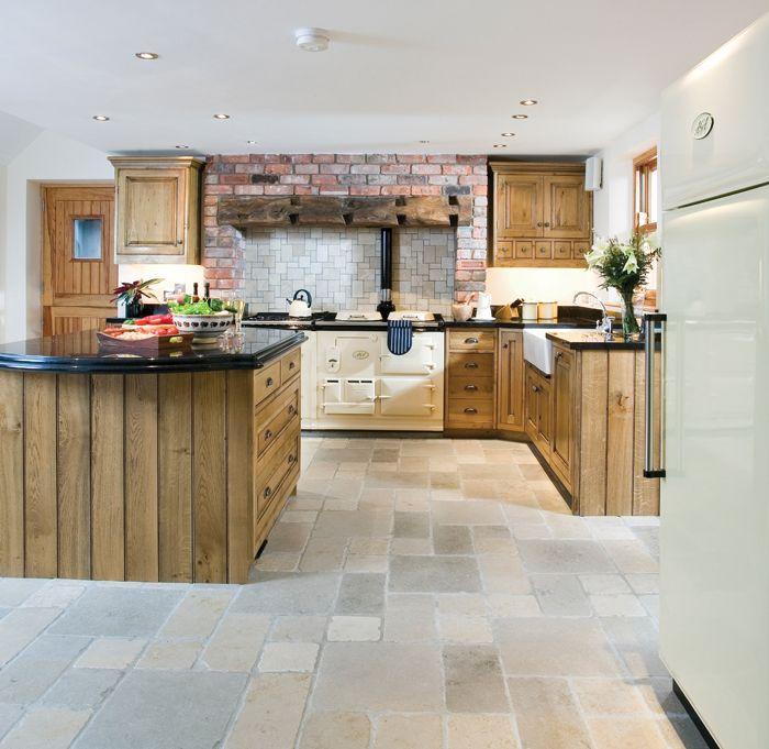 Beautiful kitchen...with my dream stove...AGA Classic Wood fueled range :)