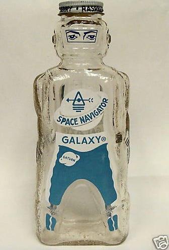 Vintage spaceman bottle, 1953Galaxies Syrup, Labels Skin Design, Spaceman Bottle, Vintage, Design Wall, Spaces Racing, Marketing Design, Bottle Labels Skin, Spaces Navigation
