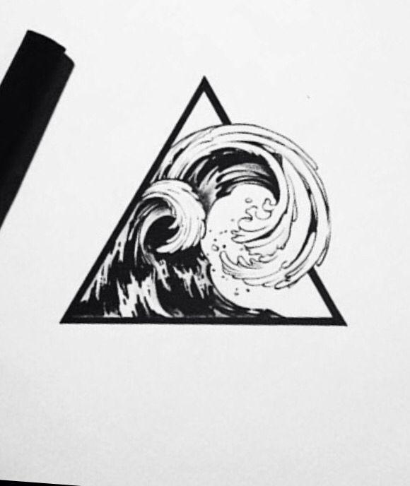 Wave tattoo design by @ tattooist_doy