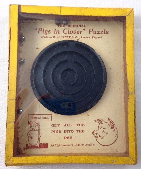Vintage Pigs In Clover Puzzle Game Hand Held Dexterity R Journet & Co London