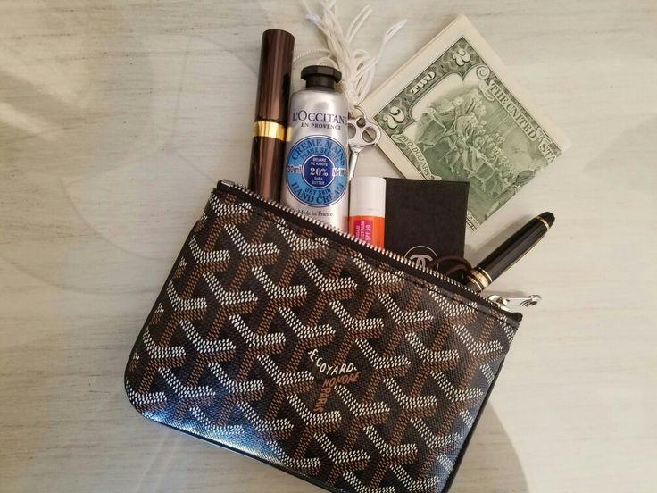 Love my #Goyard pouch.