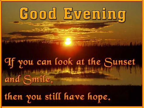 good evening quotes for him