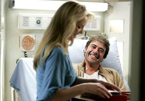 "Jeffery Dean Morgan and Katherine Heigl in   ""Grey's Anatomy."""