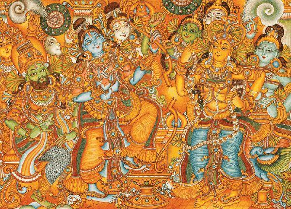 Murals depicting ramayan kerala mural pinterest for Mural 7 de setembro