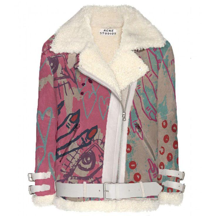KATE HARVEY textile design put onto an ACNE STUDIOS jacket