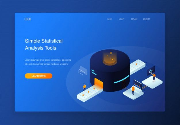 3d Isometric Illustration People Interacting With Pie Chart Data