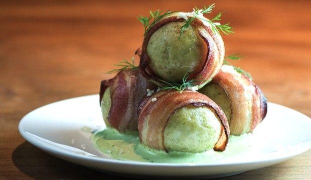 The New Potato » Bacon-Wrapped Matzo Balls: From Top Chef Winner Ilan Hall