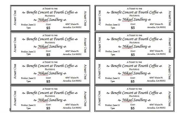 Ticket Examples Fundraiser